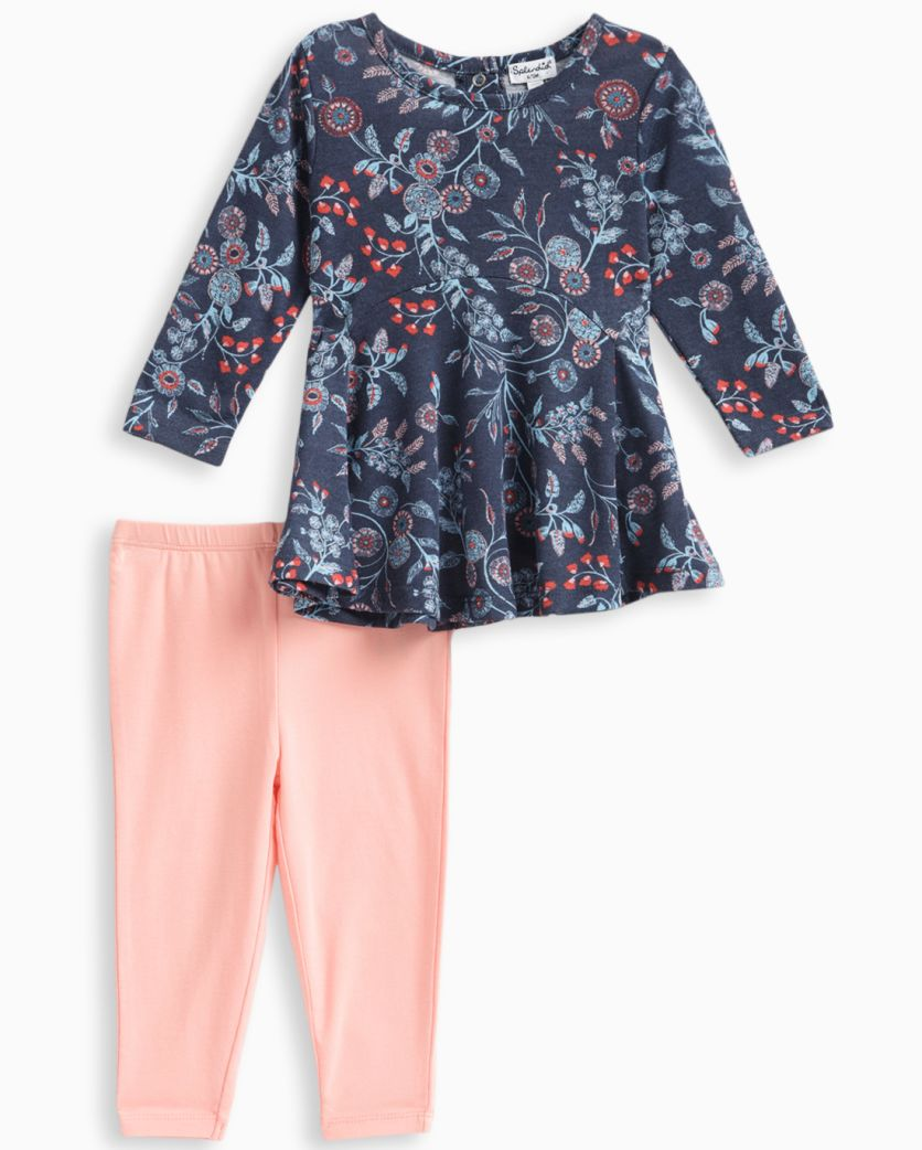 Baby Girl Floral Print Top and Pant Set