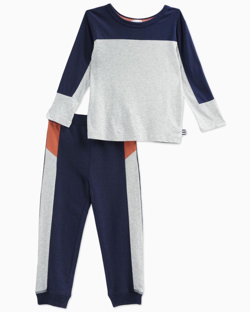 Little Boy Modal Mix Top with Pant Set