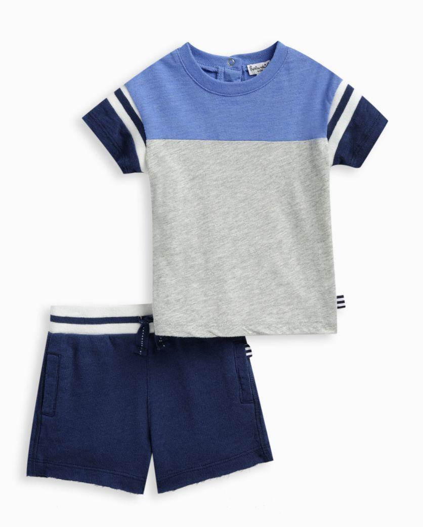 Baby Boy Football Tee and Short Set