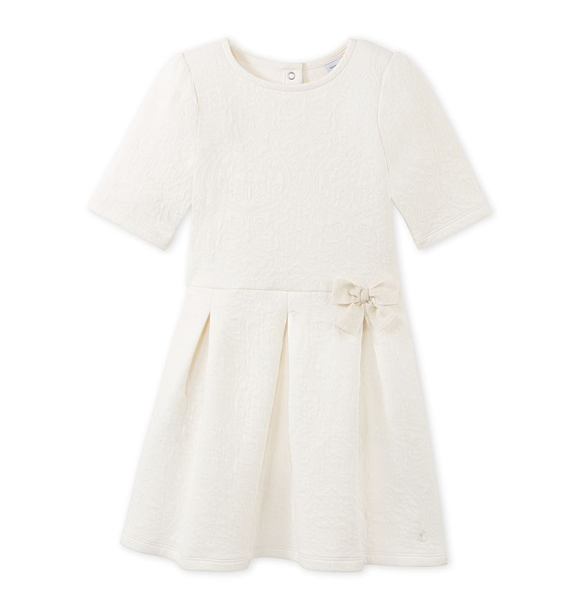 Girls' quilted dress
