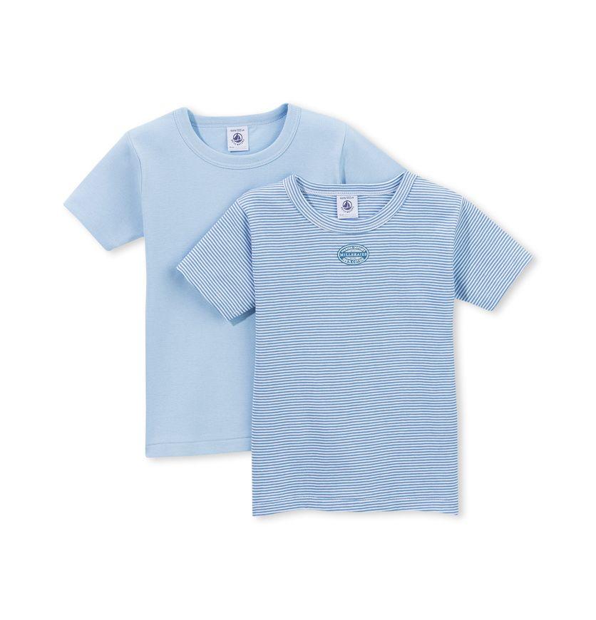 Set of 2 boy's milleraies-striped t-shirts