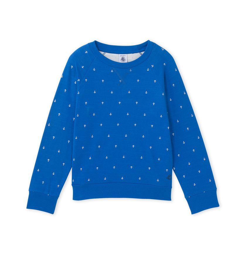 Boy's sweatshirt in light tube cotton