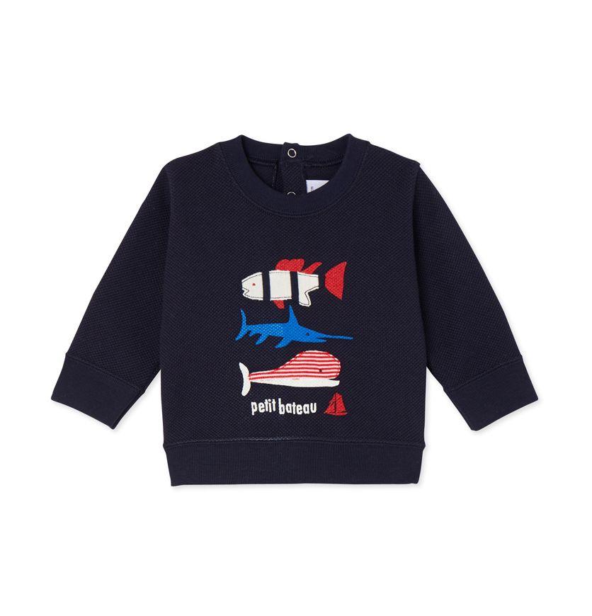 Baby boys' silkscreen print sweatshirt