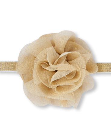 Baby Girls Oversized Metallic Mesh Flower Headwrap