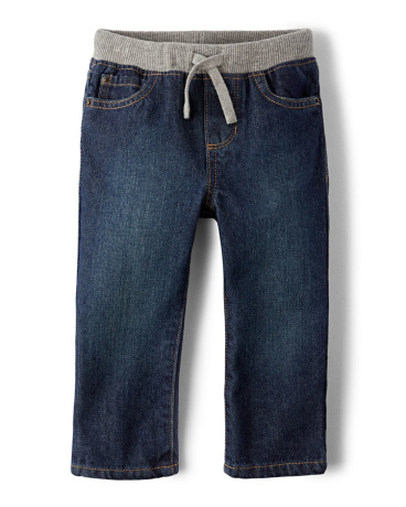 Baby And Toddler Boys Pull-On Straight Jeans