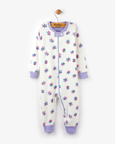Snowflakes Organic Cotton Baby Coverall