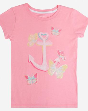 Little Girls' Anchor Butterfly Tee (2T-7)