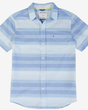 Boys' Gradient Stripe Short Sleeve Shirt (8-16)