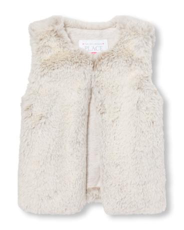 Toddler Girls Faux Fur Vest