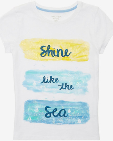 Little Girls' Shine Like The Sea Tee (2T-7)