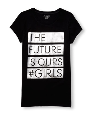Girls Short Sleeve 'The Future Is Ours Girls' Foil Graphic Tee