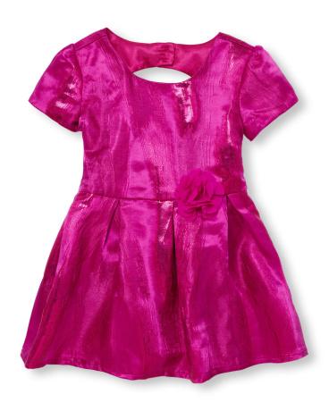 Toddler Girls Short Sleeve Cutout Back Dress