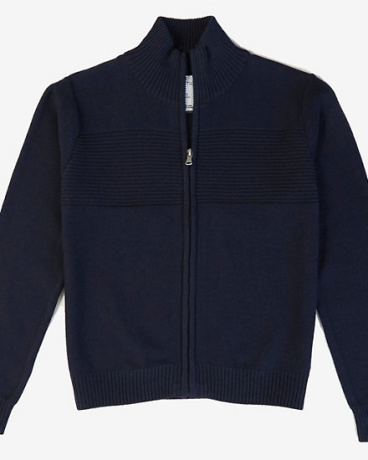Boys' Ribbed Zip Sweater