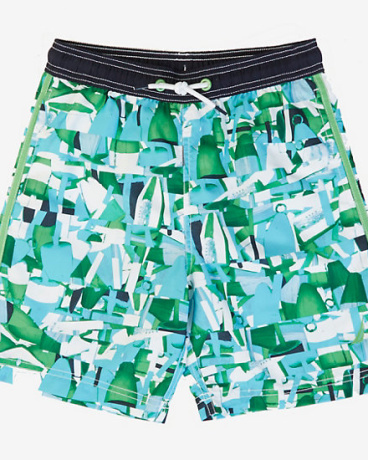 Boys' Abstract Swim Trunk (8-16)