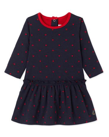 Baby girl's jacquard double knit dress