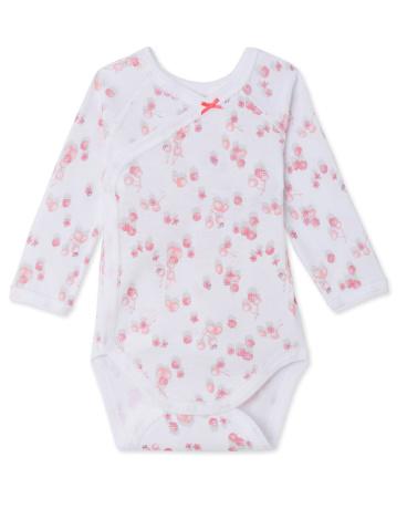 Newborn baby girl long-sleeved printed bodysuit