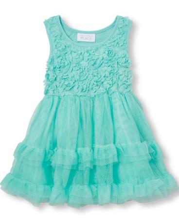 Toddler Girls Sleeveless 3D Flower Tutu Dress