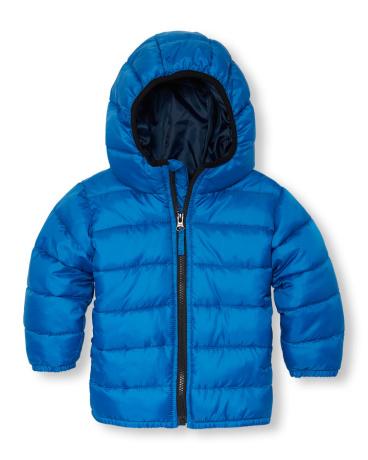 Toddler Boys Long Sleeve Basic Lightweight Puffer Jacket