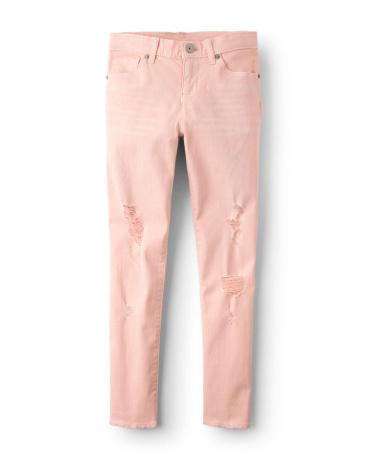 Girls Destructed Colored Denim Pants