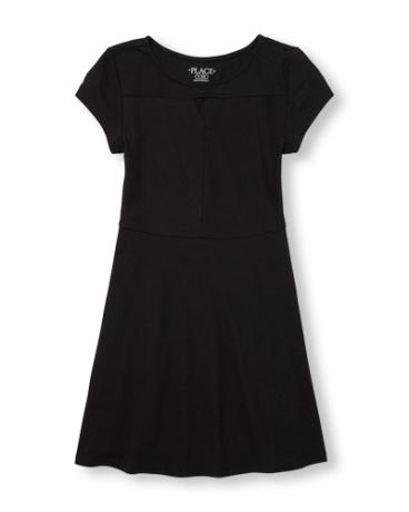 Girls Short Sleeve Cutout Knit Dress