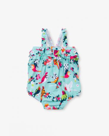Tropical Birds Baby Ruffle Swimsuit