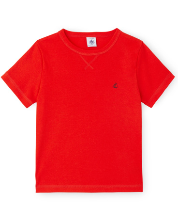 Boys' plain T-shirt