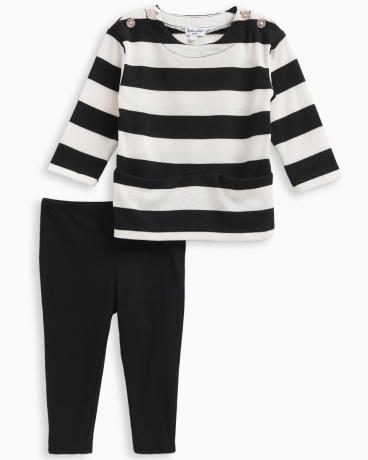 Baby Girl Stripe Loose Knit Set