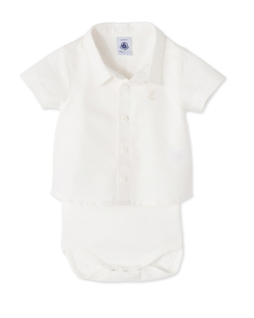 Baby boys' shirt bodysuit