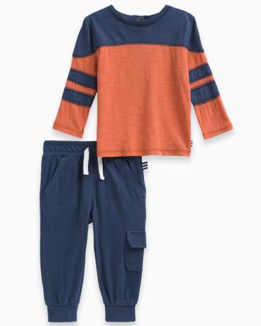 Baby Boy Slub Jersey Pant Set