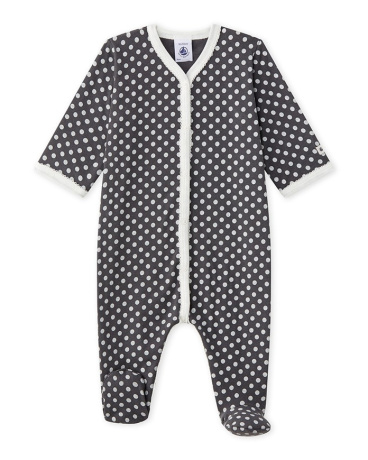 Baby girl's polka dot sleeper