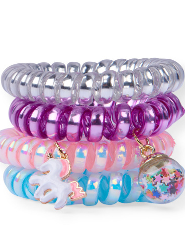 Girls Scented Charm Coil Bracelets 4-Pack