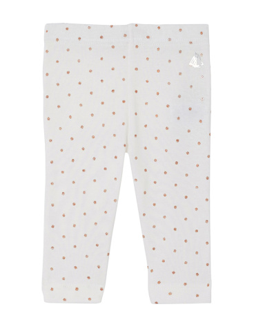 Baby girls' leggings with sparkly polka dots