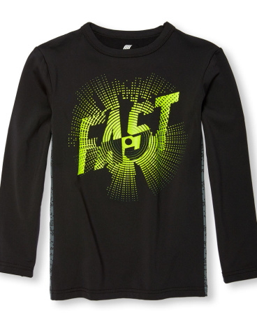 Boys PLACE Sport Long Sleeve Pieced Graphic Top