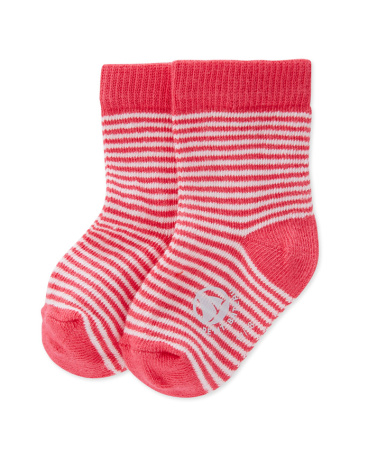 Babies' milleraies striped jersey socks