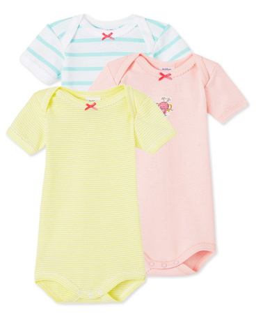 Pack of 3 baby girl bodysuits