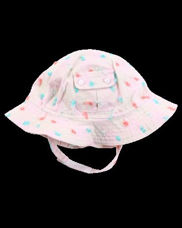 Pink Plaid Cotton Sun Hat