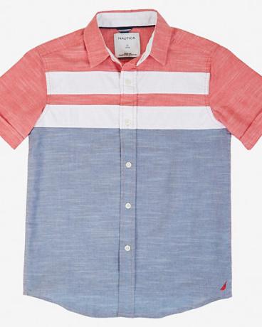 Boys' Color Block Short Sleeve Shirt (8-16)