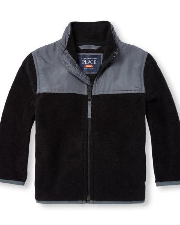 Toddler Boys Long Sleeve Zip-Up Fleece Trail Jacket