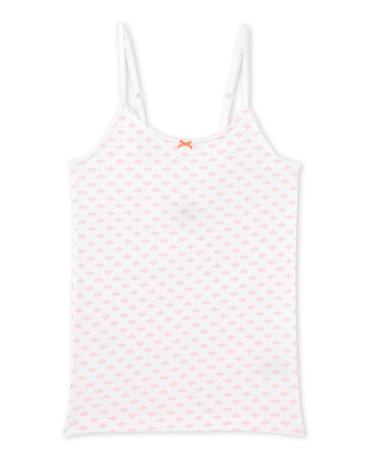 Girl's print strap vest