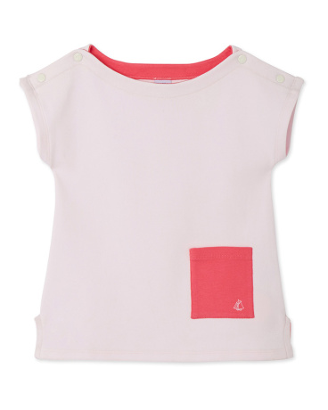 Girls' boat neck T-shirt