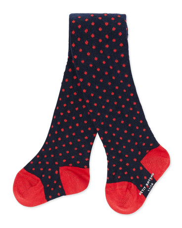 Baby girl's polka dot tights