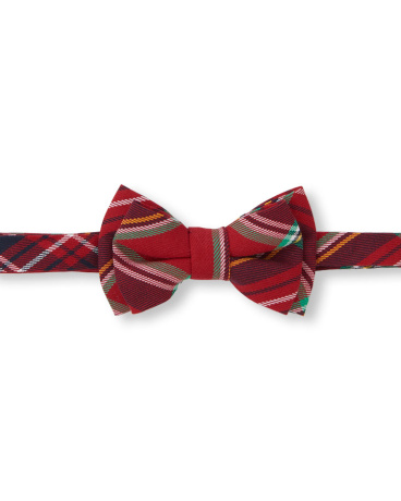 Toddler Boys Holiday Plaid Bow Tie
