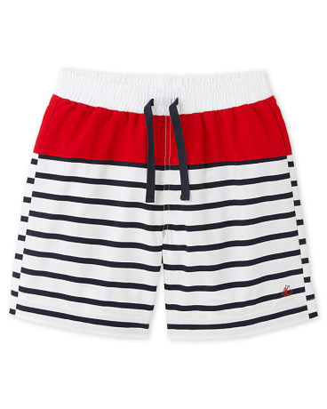Boys' striped swim shorts