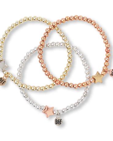 Girls Metallic BFF Mini Beaded Bracelet 3-Pack
