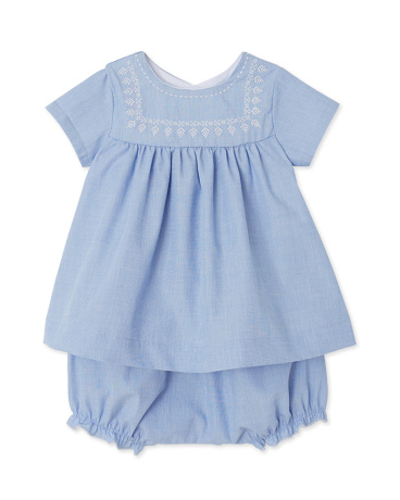 Baby girl's dress and bloomers