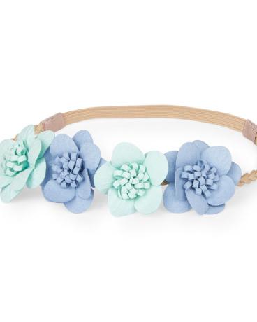 Toddler Girls Braided Flower Headwrap