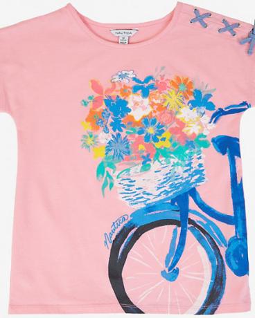 Little Girls' Bike Flower Basket Tee (2T-7)