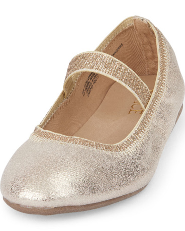 Girls Metallic Audrey Ballet Flat