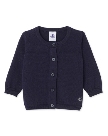 Baby girl's wool and cotton cardigan