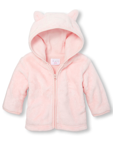 Baby Girls Layette Long Sleeve Cozy Full-Zip Hoodie